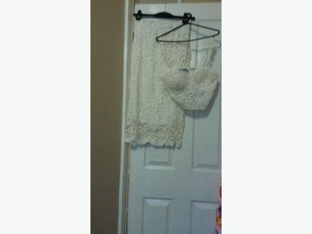 lace top and skirt never worn