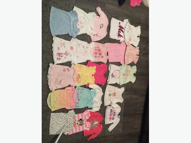 mixed baby girls clothes 0-3 months