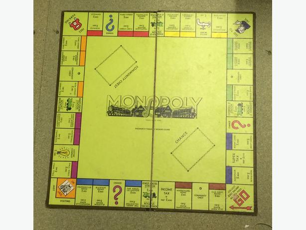 Vintage Monopoly board very retro 1950's 1960's
