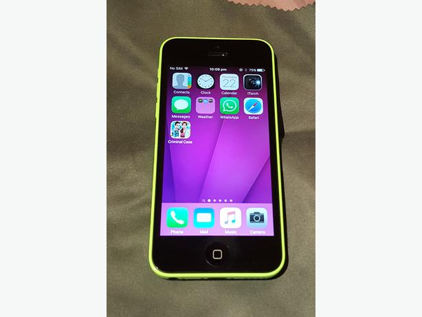 iPhone 5c Green in colour on the EE network 16gb