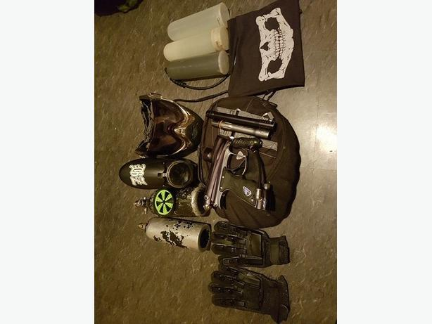 paintball setup