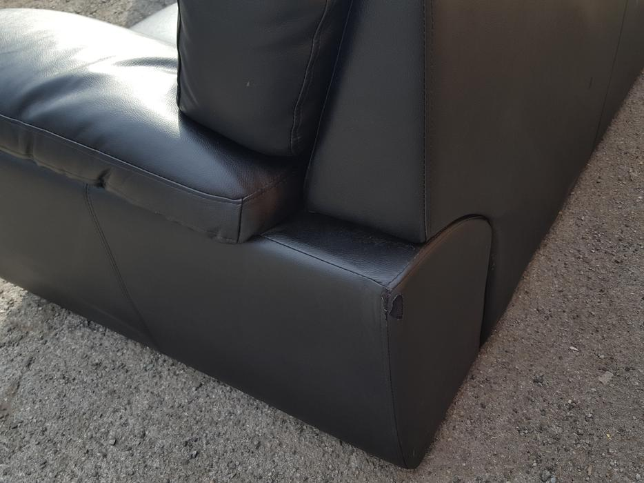 Used Black Leather Sofa Reclining