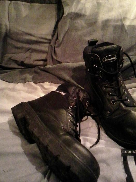 Steel Toe Landrover Safety Work Boots Size 9 Motorbike