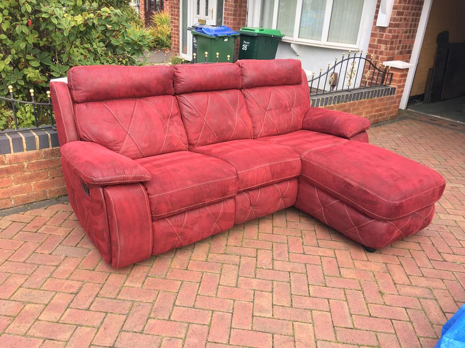 recliner corner sofa sofa with lounge dark red colour