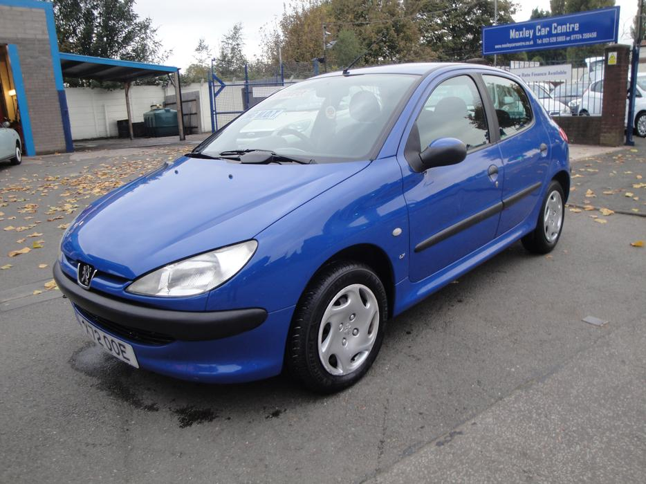 2000 x reg peugeot 206 1 1 litre lx 5 door in blue 12 months mot darlaston sandwell. Black Bedroom Furniture Sets. Home Design Ideas