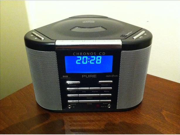 pure chronos dab radio alarm clock with cd player halesowen dudley. Black Bedroom Furniture Sets. Home Design Ideas