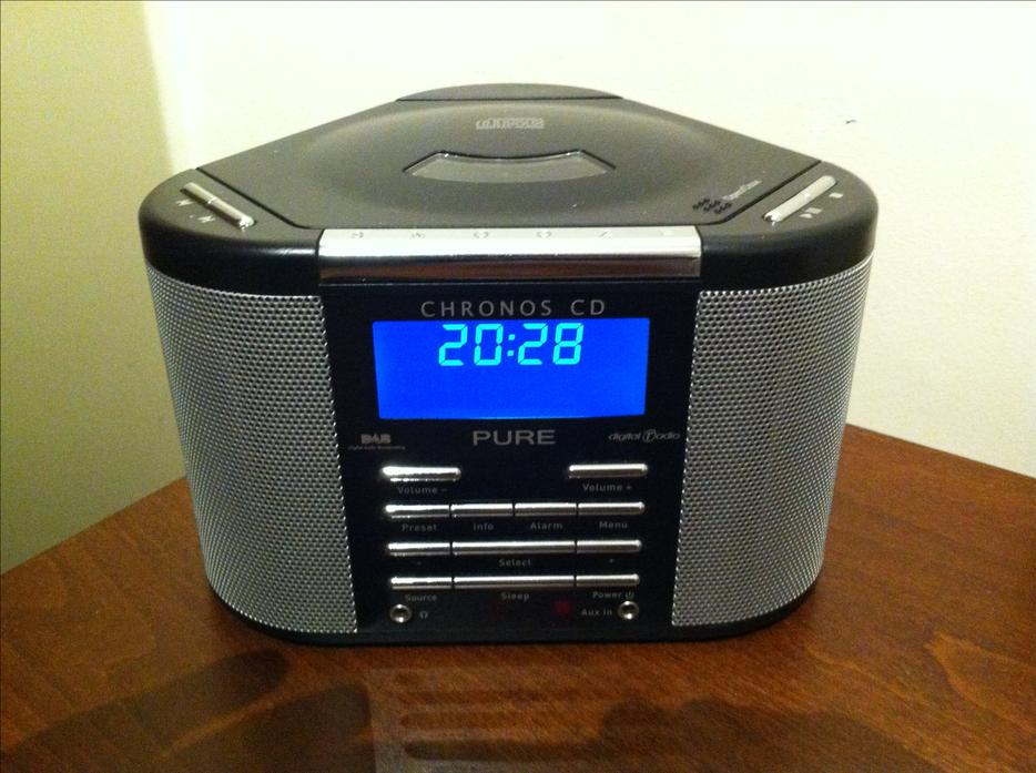 pure chronos dab radio alarm clock with cd player. Black Bedroom Furniture Sets. Home Design Ideas