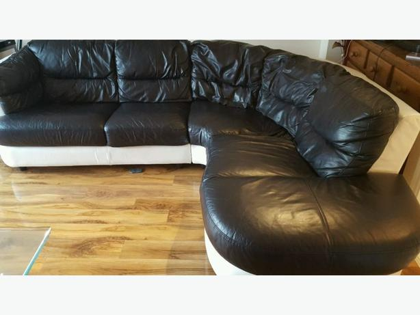 Dfs Corner Sofa In Very Good Condition Black White Free Delivery Wednesbury