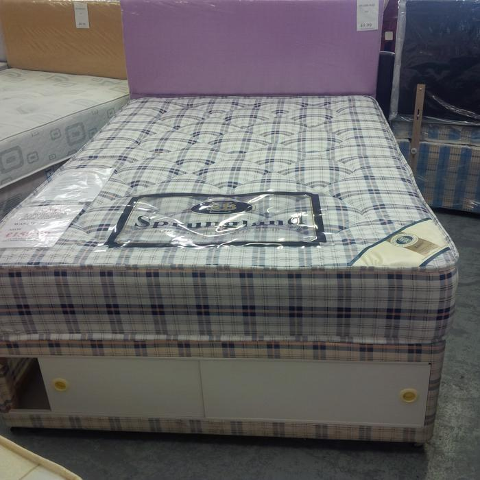 4ft small double orthopaedic divan set sandwell dudley for Small double divan set