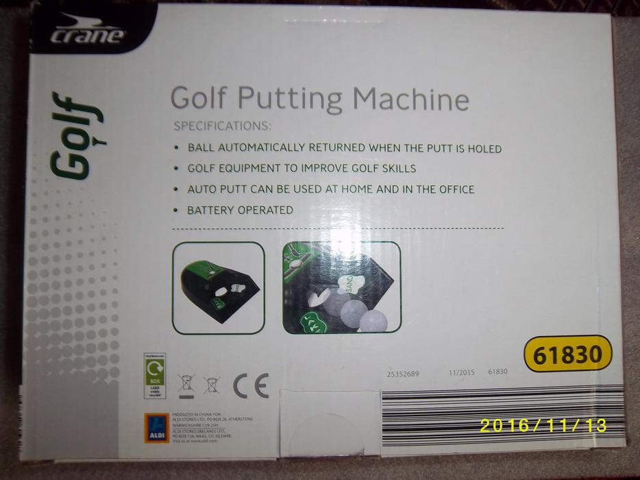 golf putting return machine
