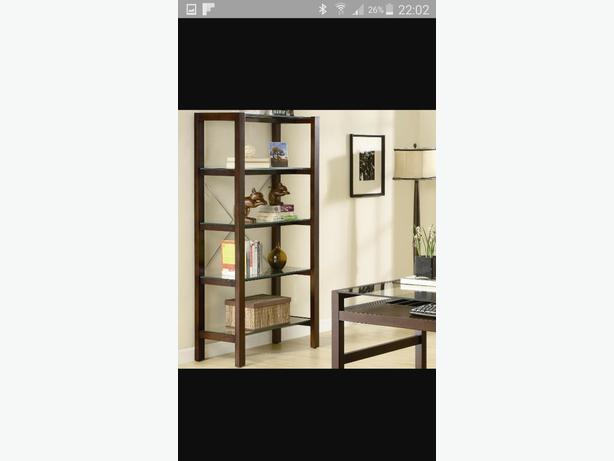Glass shelving display unit