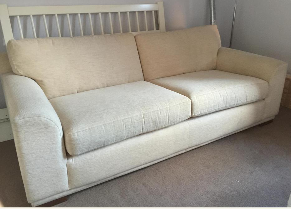 next large cream sofa free immediate collection only tipton wolverhampton. Black Bedroom Furniture Sets. Home Design Ideas