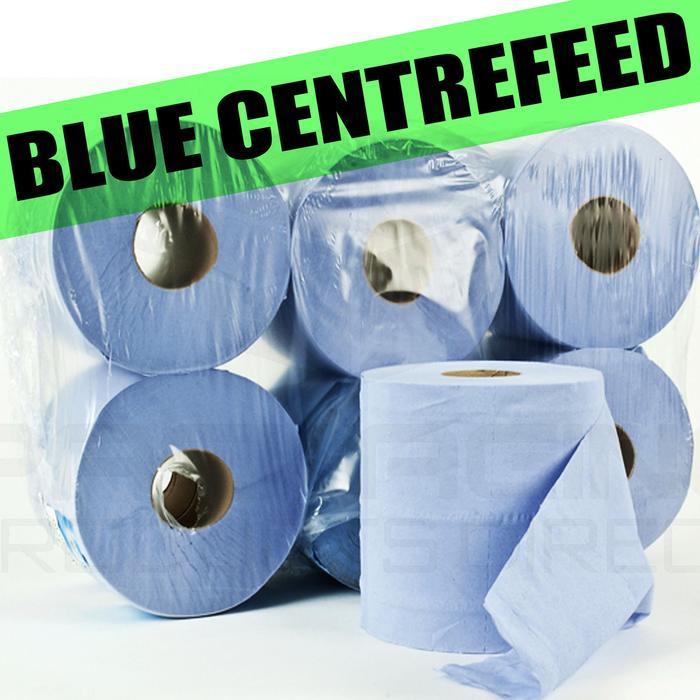 Blue centrefeed wiper paper towel kitchen roll office for Uses for paper towel rolls