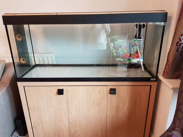 Fish tank stand filters and heater outside black country for Fish tank with filter and heater