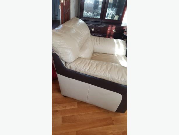 Leather arm chair and matching storage foot stool rowley for Matching arm chairs