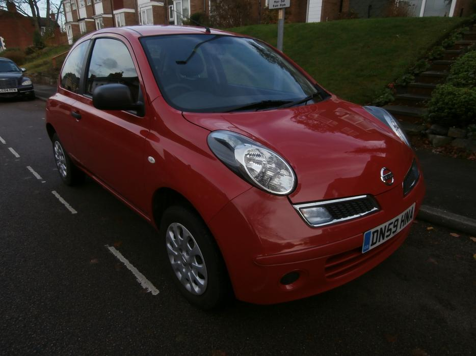 nissan micra 1 2 visia 2009 59 reg only 1 owner from new walsall dudley. Black Bedroom Furniture Sets. Home Design Ideas