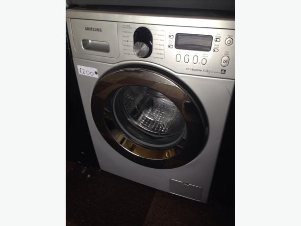 silver samsung eco bubble 8kg washing machine wolverhampton sandwell. Black Bedroom Furniture Sets. Home Design Ideas