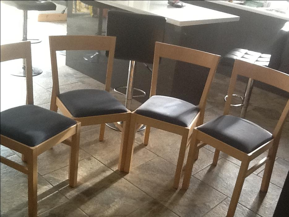 dining room chairs solid wood padded seats  cheap  chairs  black country region