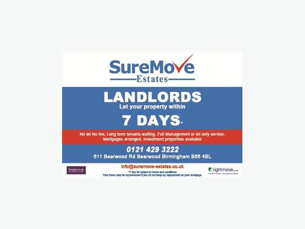 LET YOUR PROPERTY WITHIN 7 DAYS 01214293222  ALL AREAS ALL PROPERTIES