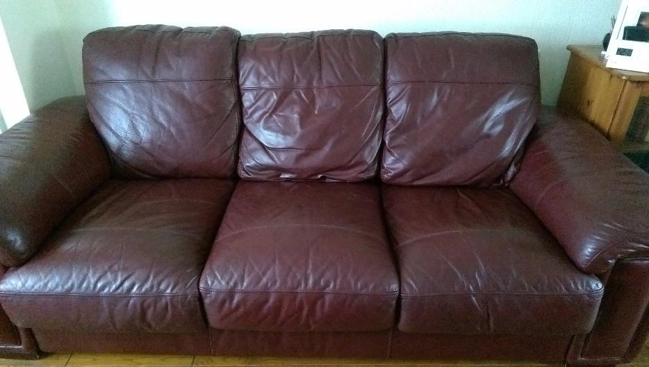 brown leather sofa for sale smethwick dudley. Black Bedroom Furniture Sets. Home Design Ideas