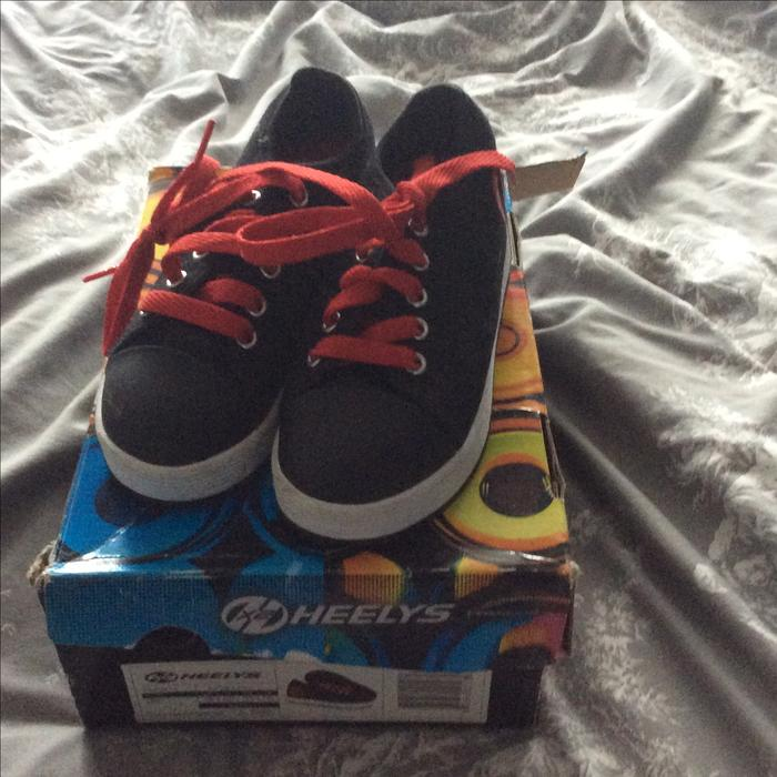 HEELYS SIZE 12 RED AND BLACK DUDLEY, Wolverhampton