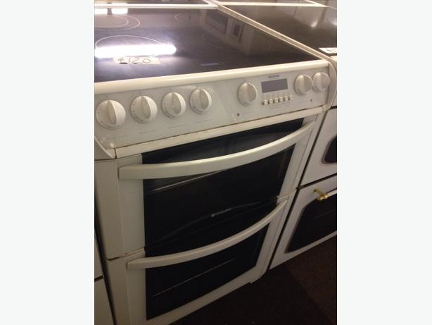 60CM HOTPOINT FAN ASSISTED ELECTRIC COOKER DOUBLE OVEN
