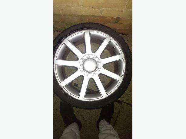 "18"" Audi alloys with tyres"