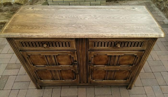 Solid oak ercol sideboard old charm style dudley dudley for Sideboard petrol