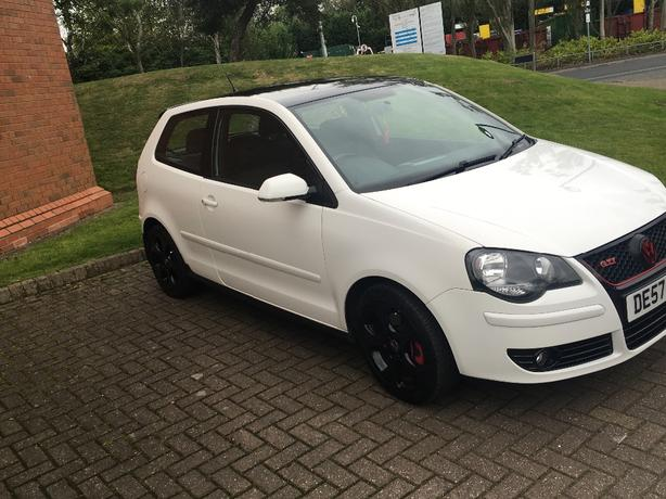 vw polo gti 1.8 candy white 1.8t