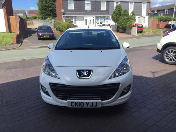 White Peugeot 207cc Allure model, 2010 Reg.