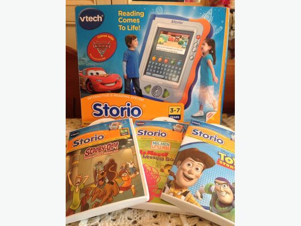 Vtech Storio plus 3 extra storybooks