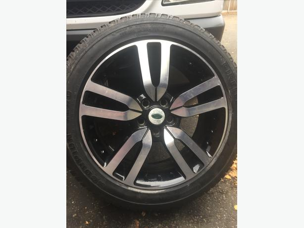 "4 GENUINE LAND ROVER DISCOVERY 4 20"" ALLOY WHEELS"