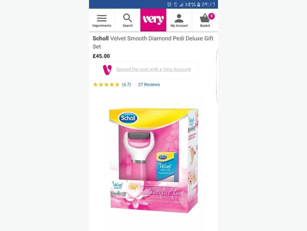 scholl diamond gift set perfect for Christmas