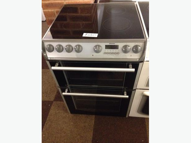 BELLING 60CM FAN ASSISTED DOUBLE OVEN ELECTRIC COOKER