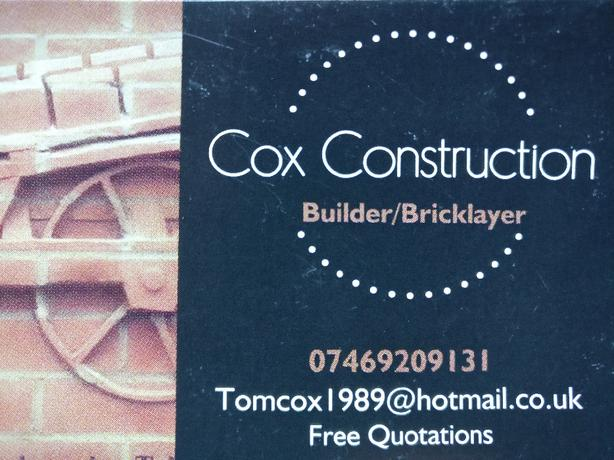 Bricklaying jobs,  extensions,  all work undertaken.  Free quotes.