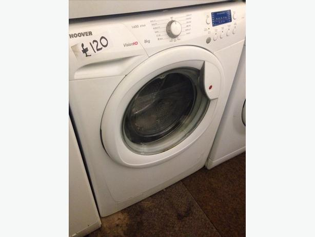 8KG HOOVER WASHING MACHINE WHITE0