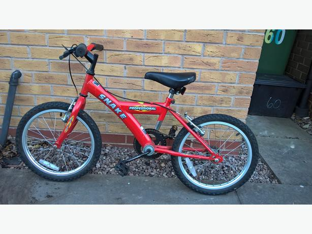 "Boys/ child's bike, 18"" wheels, good condition"