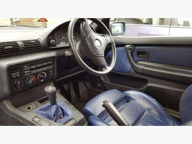 FOR TRADE: RARE BMW MSPORT E36 COMPACT BLUE LEATHER SWAP FOR DRIFT OR BIKE