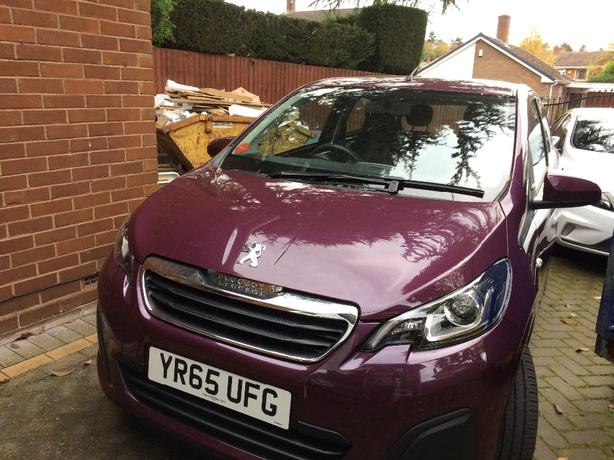 Peugeot 108 Active 5 door 2015 (65 Reg).  Very low mileage.