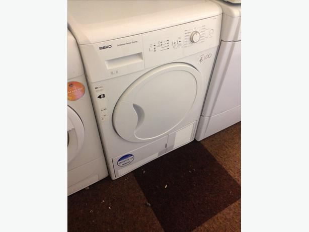 8KG WHITE BEKO CONDENSER DRYER