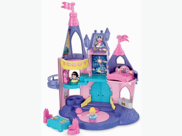 fisher price little people disney princess castle with extra figures