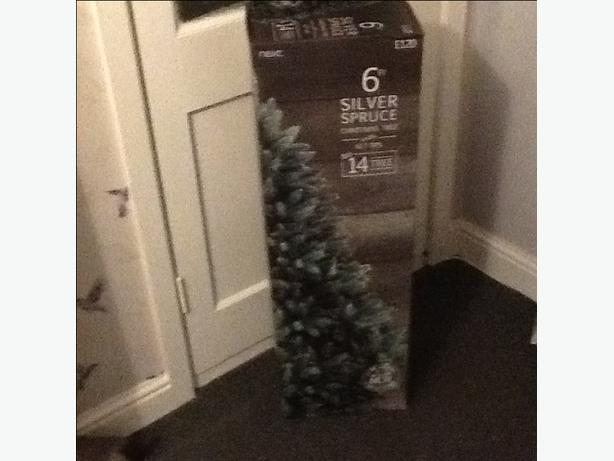 Next 6ft silver spruce Christmas tree (brand new)