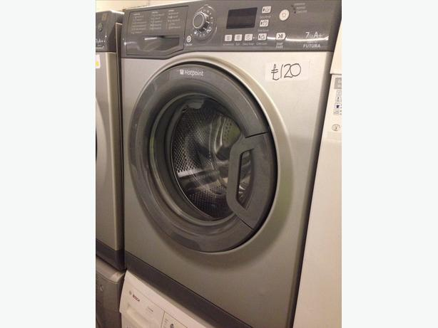 GRAPHITE GREY HOTPOINT 7KG WASHING MACHINE