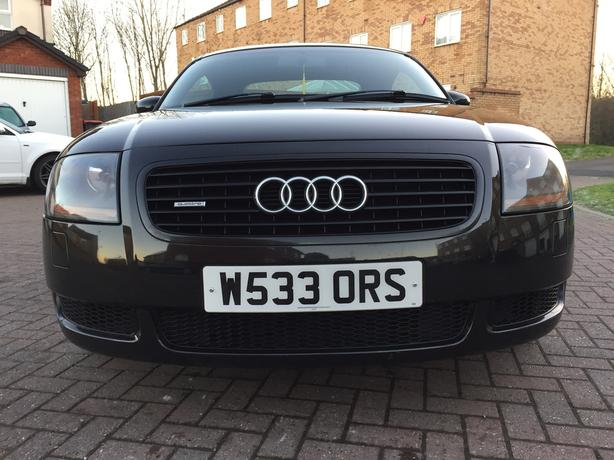 AUDI TT 225 BHP QUATTRO COUPE 106k,FSH 17 STAMPS,BOSE,BLACK LEATHER,MINT