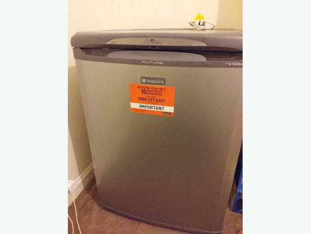 hotpoint silver fridge