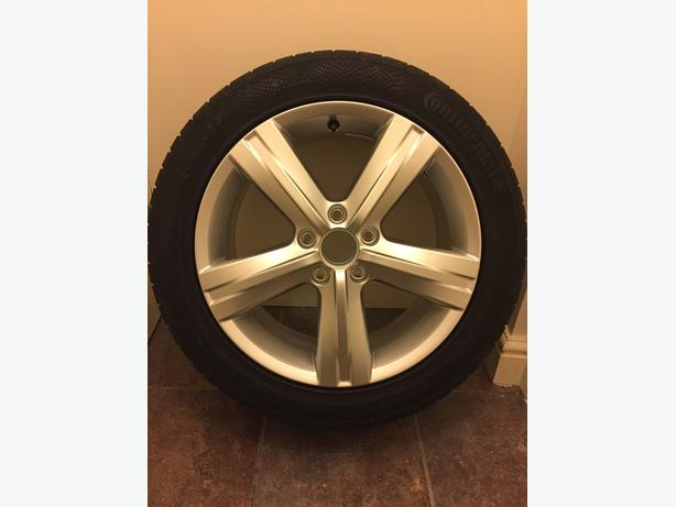 "BRAND NEW 17"" FONTANA ALLOY AND CONTINENTAL TYRE 235x45x17"