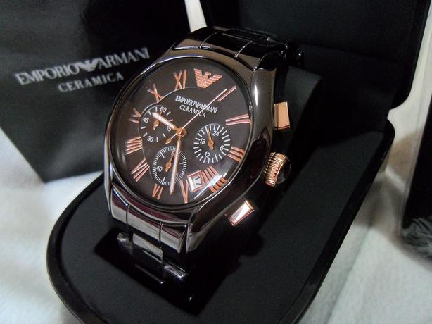 Brand New Armani Watch AR1410 Rose Gold with Documents Certificate Box with Tag