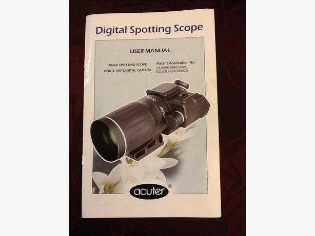 Acuter digital Spotting Scope