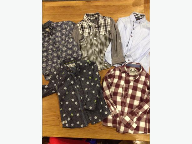 Five boys smart shirts aged 3-4 years