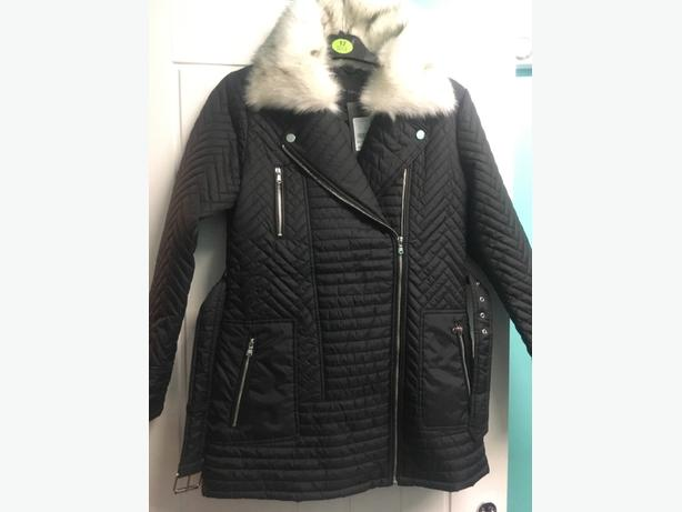 Newlook Womens biker coat, size 12 new with tags